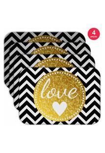 Jogo Americano Love Decor Wevans Love Kit Com 4 Pçs