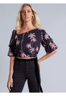 Blusa Cropped Decote Assimétrico The Grove - Lez A Lez