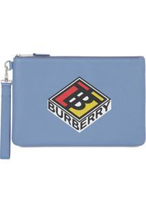 Burberry Carteira Com Logo Gráfico - Azul