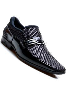 Sapato Social Masculino Em Couro Calvest - Masculino-Preto