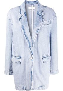 Isabel Marant Étoile Blazer Jeans Oversized - Azul