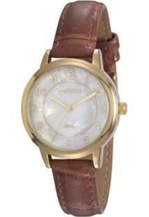 Relógio Mondaine Analógico Feminino - Feminino-Dourado