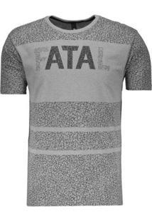 Camiseta Plus Size Fatal Stone Especial Masculina - Masculino-Cinza