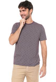 Camiseta Malwee Quadrados Vinho/Branca