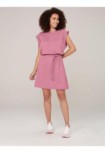 Vestido Curto Muscle Tee Com Algodão - Rosa