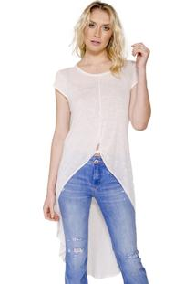 Maxi T-Shirt Básica Colcci - Feminino-Off White