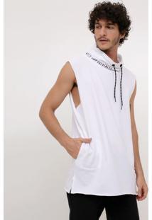 Camiseta Sem Mangas Com Estampa Na Gola
