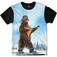 c04f082635c97 Camiseta Bsc Urso Banjo Sublimada - Masculino-Preto