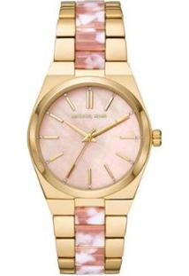 Relógio Michael Kors Channing Mk6650/1Dn Feminino - Feminino-Dourado