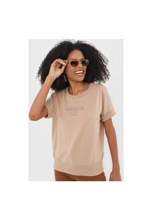 Camiseta Colcci Compartilhe Propósito Marrom