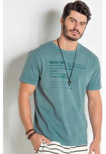 Camiseta Verde Actual Lavação Estonada