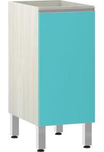 Módulo Cozinha Balcão Sem Tampo Lis 1 Porta - 35Cm - 2561/177 - Aqua Laca - Prime Plus - Luciane