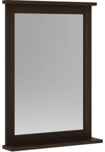 Espelheira Para Banheiro 53 Cm Nogueira - Mão & Formão