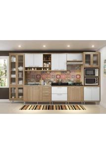Cozinha Modulada Multimóveis Sicília 08 - 8 Módulos - Argila/Branco