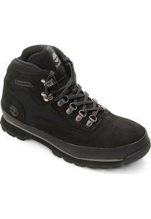Bota Timberland Couro Euro Hiker Premium Masculina - Masculino-Preto
