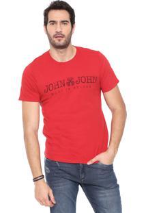 Camiseta John John Lettering Vermelha