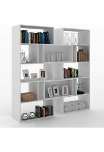 Estante Para Livros Plenty 8 Prateleiras 700008 Gris - Manfroi