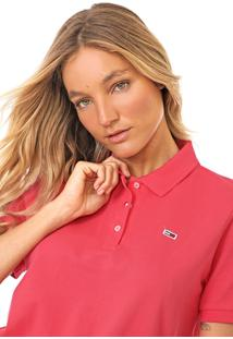 Camisa Polo Tommy Jeans Classic Rosa