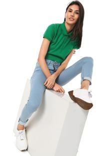 Camisa Pólo Ombro Pique feminina  7006cb54c94a7