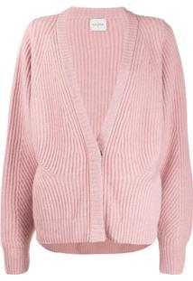 Le Kasha Cardigan Ecosse Oversized De Cashmere - Rosa