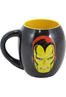 Caneca Oval Iron Man Geek10 Preto