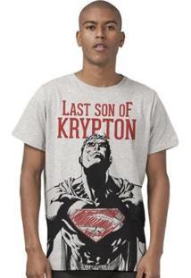 Camiseta Bandup! Superman Last Son Of Krypton - Masculino-Mescla