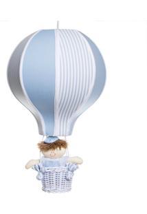 Lustre Balão Com Boneco Potinho De Mel Azul - Kanui