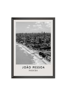 Quadro 65X45Cm Cidades Joáo Pessoa Brasil Moldura Preta Sem Vidro Decorativo