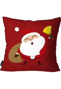 Capa Para Almofada Mdecore Papai Noel Vermelho 55X55