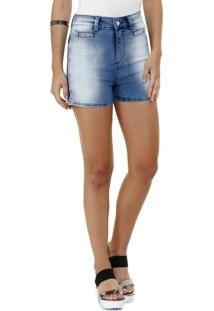 Bermuda Feminina Em Jeans Com Strass Marisa