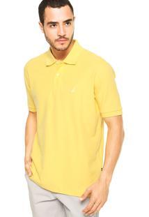 Camisa Polo Nautica Lisa Amarela