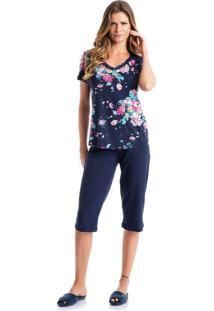 Pijama Alice Pescador Azul/P