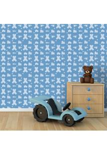 Papel De Parede Brinquedos Azul