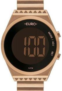 Relógio Euro Fashion Fit Slim Feminino - Feminino-Rose Gold