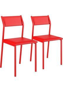 Cadeira Carraro 1709 Aço Color (2 Unidades) Vermelho