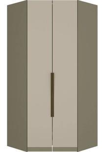 Módulo Canto Closet 02 Portas Exclusive M227-Henn - Duna / Cristal