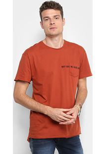 Camiseta Colcci Com Bolso Bordado Masculina - Masculino