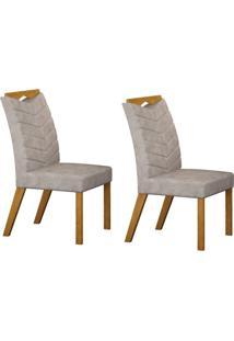 Conjunto Com 2 Cadeiras Verona Imbuia Mel E Pena Cinza