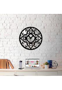 Escultura De Parede Wevans Mandala Corações + Espelho Decorativo