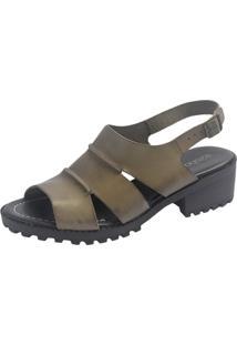 Sandália S2 Shoes Vitória Couro Verde Folha - Kanui