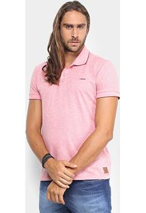 Camisa Polo Colcci Maquinetada Poá Masculina - Masculino