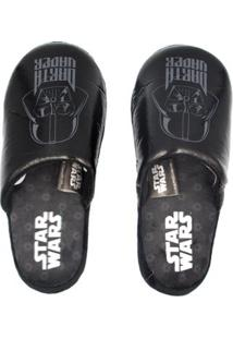 Pantufa Chinelo Ricsen Darth Vader - Unissex-Preto