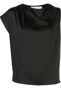 Ba&Sh Asymmetrical Sleeveless Blouse - Preto