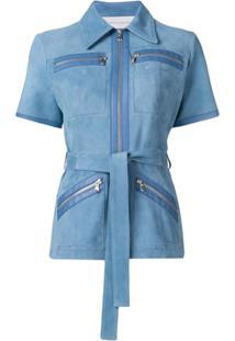 Victoria Victoria Beckham Blusa Com Cinto - Azul