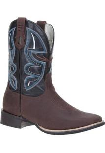 Bota Couro Country Via Boots Masculino - Masculino-Marrom