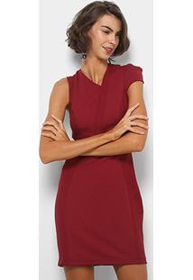330386d18 Vestido Tubinho Vinho feminino