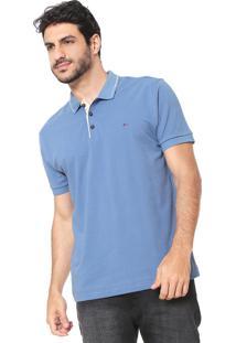 Camisa Polo Aramis Reta Pontilhada Azul