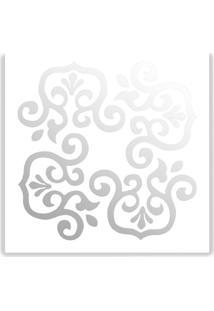 Espelho De Parede 13184B Branco 40X40 Art Shop