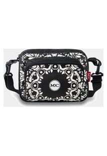 Shoulder Bag Mxc Brasil Mini Bolsa Lateral Ombro Necessaire Transversal Preto/Branco