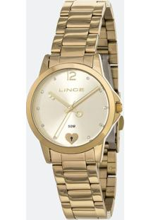 Kit Relógio Feminino Lince Lrg4558L-Kv14C2Kx Analógico 5Atm + Conjunto Semijóia